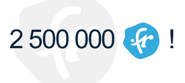 ccTLD .fr : Barre des 2.5 millions de domaines dépassée