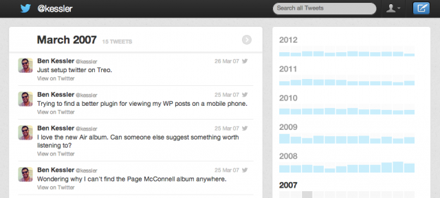 Twitter : Archive des tweets