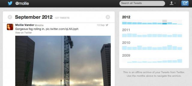 Twitter : Export des tweets