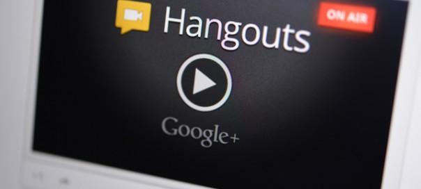 Google Hangout : Mode plein écran pour les lives à un présentateur
