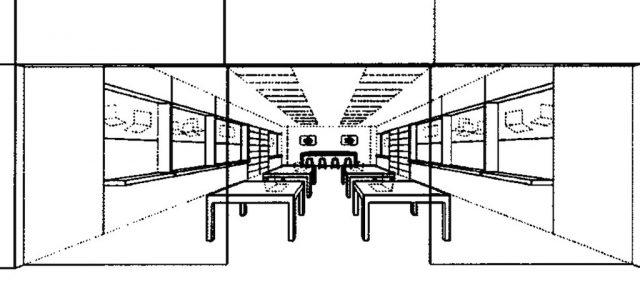 Apple Store : Brevet pour le design intérieur