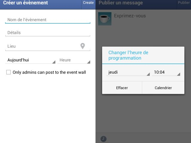 Facebook Page Manager : Programmation des publications