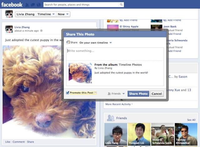 Facebook : Sponsorisez les publication de vos amis