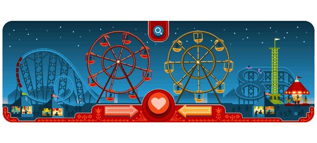 Google : Doodle George Ferris & Saint Valentin