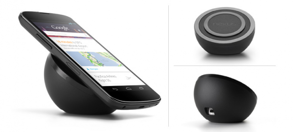 Google Nexus 4 : Chargeur Qi sans fil via induction
