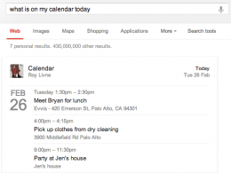 Google Search Trial : Recherche calendrier