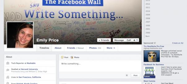 Facebook Timeline : Nouvelle interface du journal utilisateur