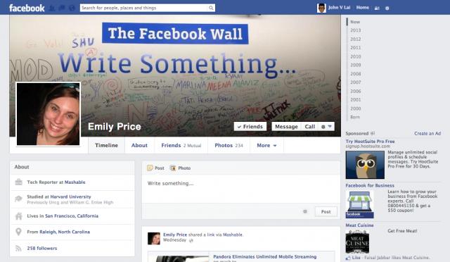 Facebook : Nouvelle Timeline