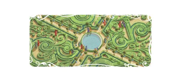 Google : André Le Nôtre et le jardin à la française en doodle