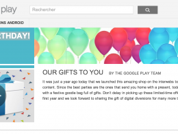 Anniversaire Google Play