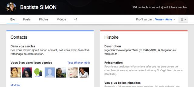 Google+ : Nouveau design