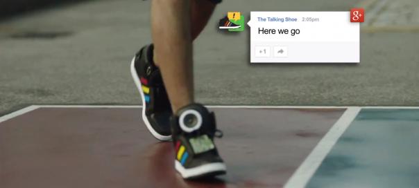 Google Talking Shoe : Des chaussures connectées et parlantes ?