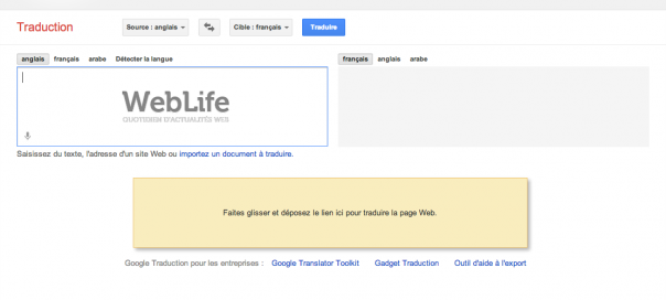 Google Traduction : Traduire un site internet par glisser-déposer
