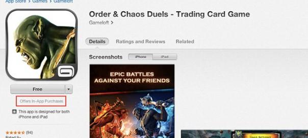 App Store : Mention spéciale pour les achats in-app