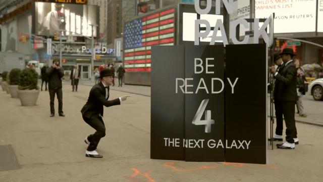 Samsung Galaxy S4 : Flash mob