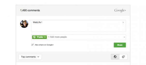 Google+ : Intégration des commentaires à son site/blog