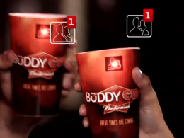 Facebook : Verres sociaux Budweiser