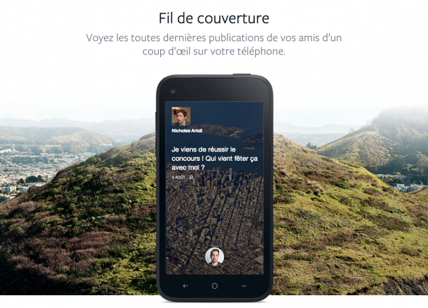 Facebook Home : Fil de couverture