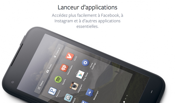 Facebook Home : Lanceur d'applications