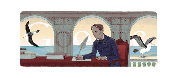 Google : Charles Baudelaire et ses albatros en doodle