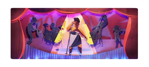 Google : Ella Fitzgerald, la chanteuse de jazz en doodle