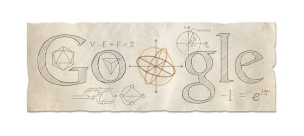 Google : Leonhard Euler, le mathématicien et physicien en doodle