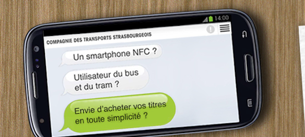 Strasbourg : CTS - Application sans contact
