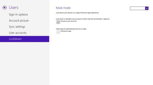 Windows 8 : Mode Kiosque