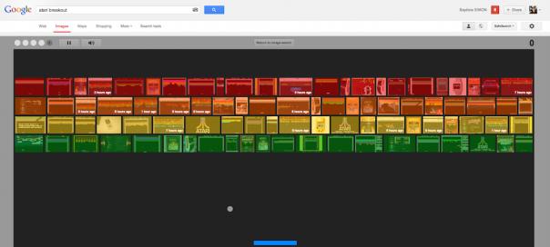 Google : Atari Breakout, l'easter egg de Google Images