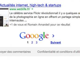 Google : Commande site - 3 pages de résultats