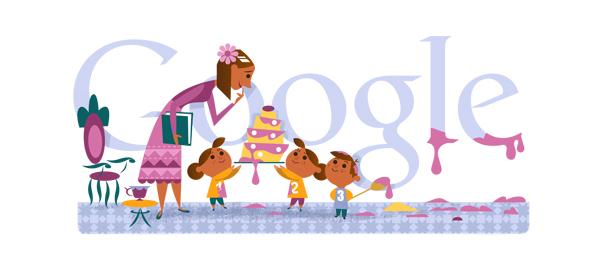 Google : Fête des Mères 2013 en doodle