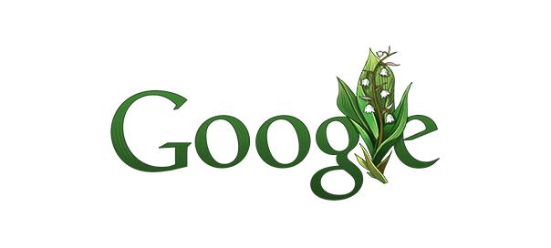 Google : Fête du Travail & muguet en doodle
