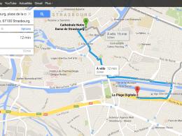 Google Maps : Itinéraire à vélo