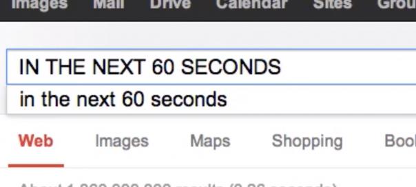 Internet : Activités toutes les 60 secondes sur la toile