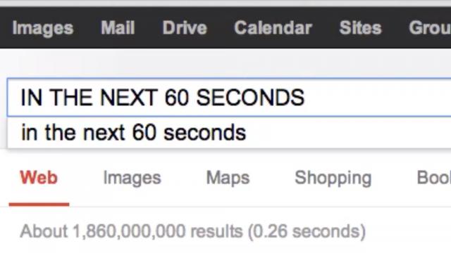 Internet toutes les 60 secondes