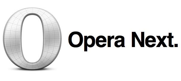 Opera Next : WebKit & V8 pour Opera 15 sur desktop