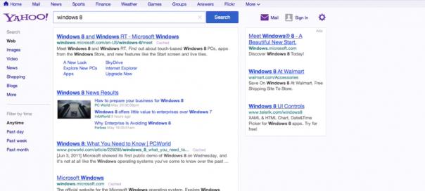Yahoo : Nouvelle interface utilisateur du moteur en vidéo
