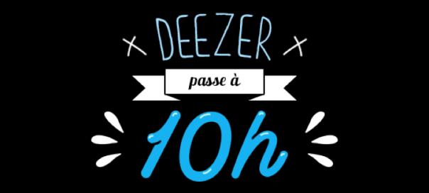 Deezer : 10h par mois d'écoute gratuite de musique