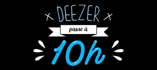 Deezer : 10h de limitation d'écoute