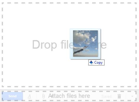 Gmail : Images en pièce jointe par drag & drop