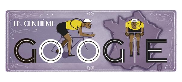 Google : 100e Tour de France de cyclisme en doodle