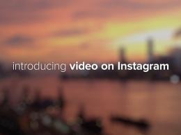 Instagram : Vidéo