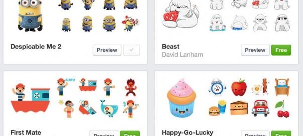 Facebook Stickers : Arrivée des autocollants sur la version web