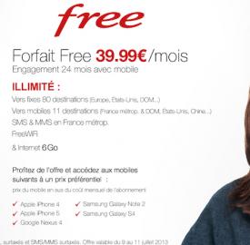 Free : Une vente privée pour un forfait à 39.90 euros tout compris