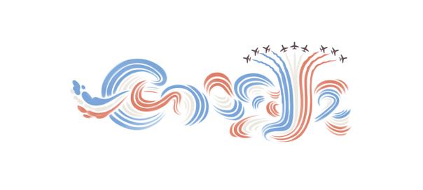 Google : 14 juillet, fête nationale française en doodle