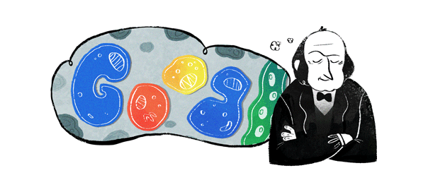 Google : Claude Bernard, le médecin français en doodle