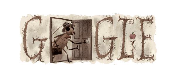 Google : Franz Kafka et La Métamorphose en doodle
