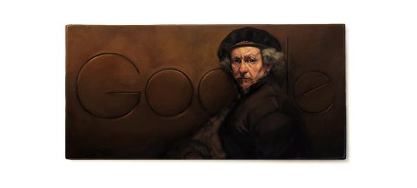 Google : Rembrandt, le peintre baroque en doodle