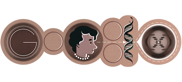 Google : Rosalind Franklin et l'ADN en doodle