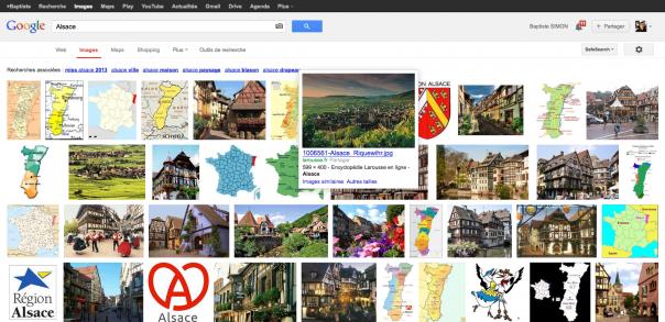 Google Images : Ancienne interface utilisateur